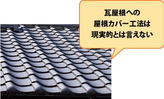 瓦屋根への屋根カバー工法は現実的ではない