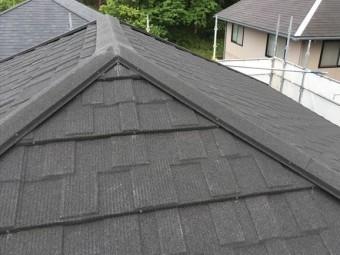 屋根カバー工法を施工後の屋根