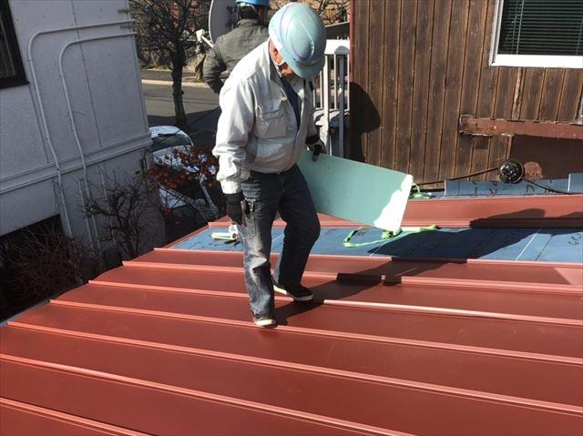 金属屋根の葺き替え