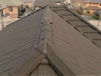 換気棟を設置した屋根