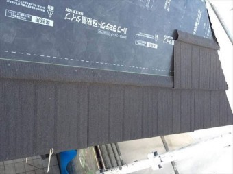 軒先の屋根施工