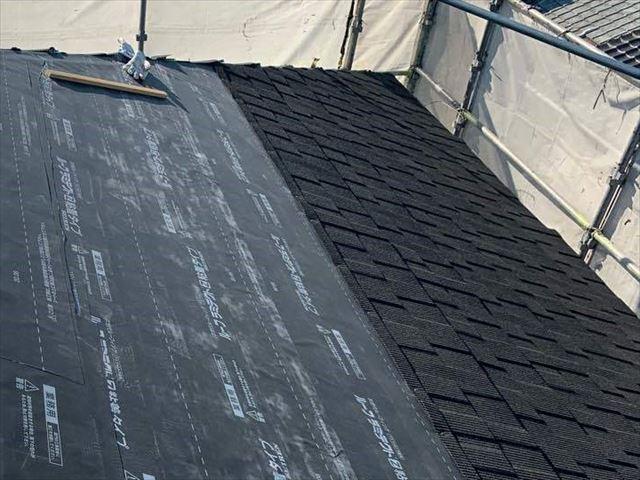 ジンカリウム鋼板屋根材の施工
