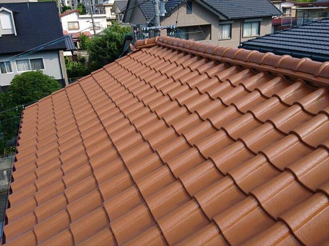 乾式コンクリート瓦の屋根