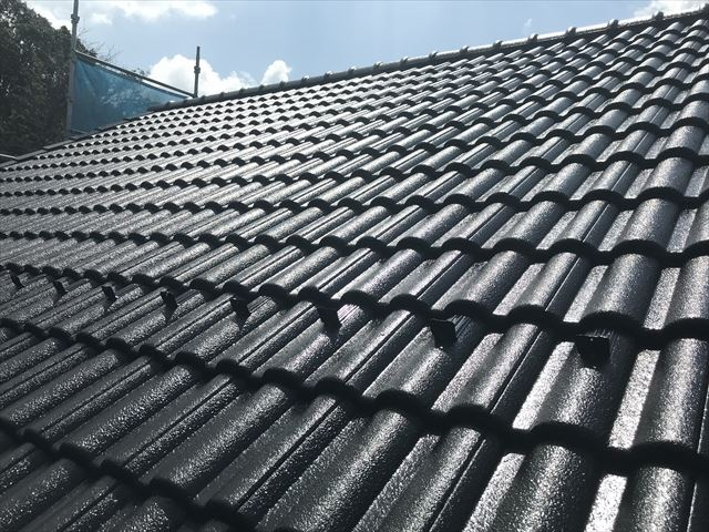 塗装後の屋根
