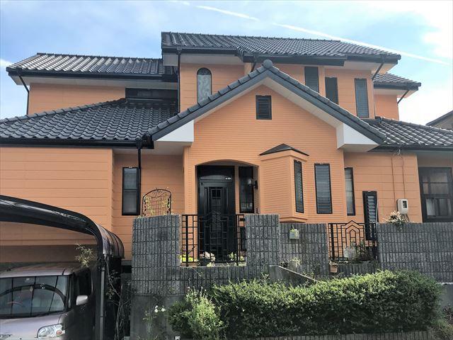 ガイナを塗装した住宅