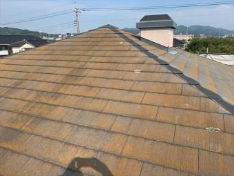 施工前のスレート屋根