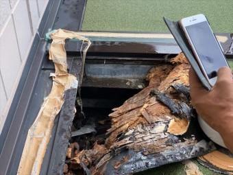 ベランダの木材の腐食