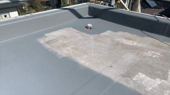 立ち上がり部分の防水のトップコート塗布