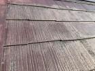 スレート屋根の色褪せと塗膜の剥がれ