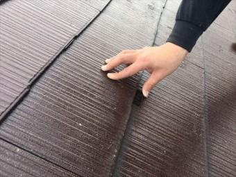 スレート屋根の縁切り(タスペーサー設置)