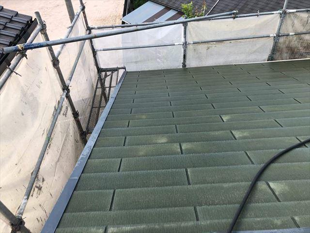 高圧洗浄をしたスレート屋根
