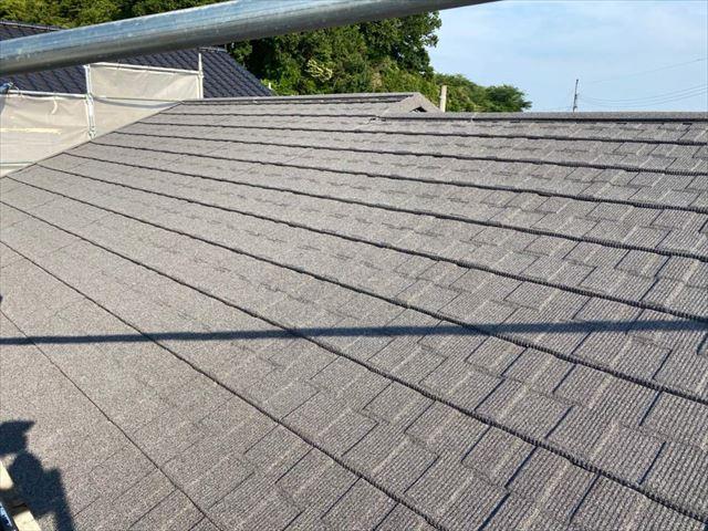 セネターを施工後の屋根