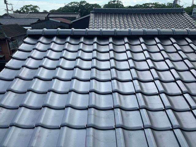 屋根葺き替えを施工した屋根