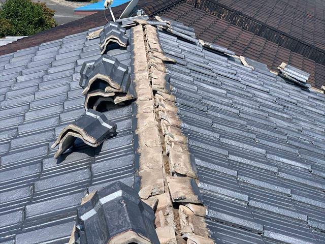 既存の屋根の撤去