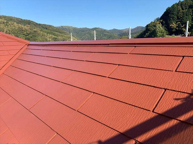 屋根塗装の施工後のスレート屋根