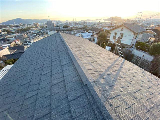 セネターで屋根カバー工法を施工した屋根