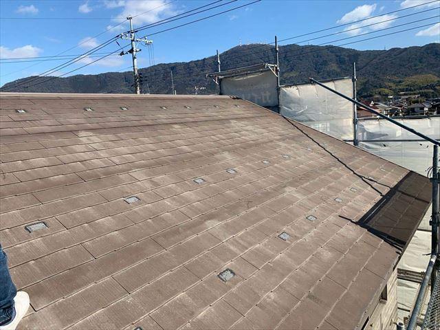 太陽光パネルの取り外したスレート屋根