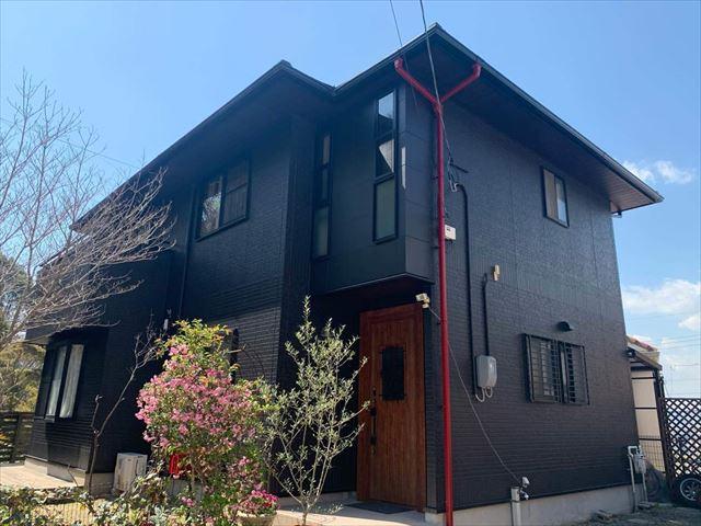 外壁塗装をした住宅