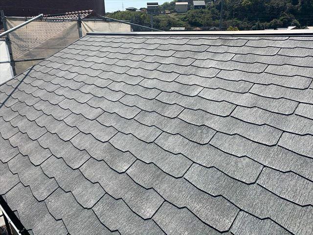 高圧洗浄の後のスレート屋根