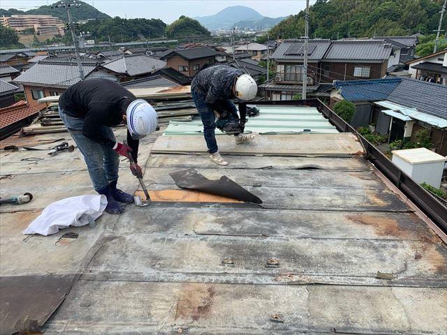 金属屋根材(トタン)の撤去