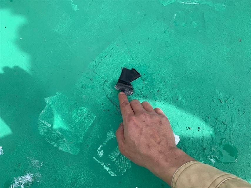 シート防水の破損