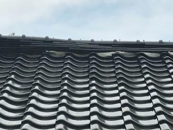 柳井市棟瓦崩れ