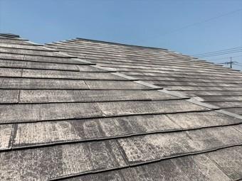 洗浄後のスレート屋根