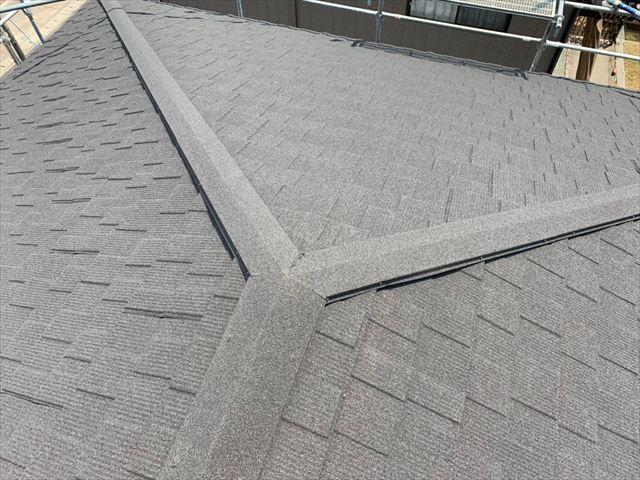 セネターを施工した屋根