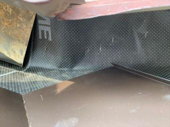 壁との取り合い部分の防水紙