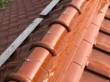 棟瓦の銅線