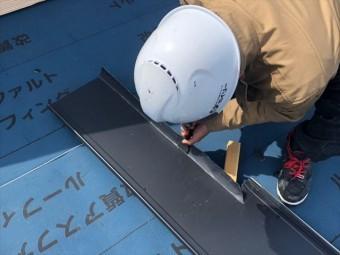 ガルバリウム鋼板を加工