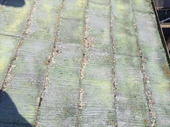 スレート屋根の剝がれ