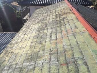 劣化したスレート屋根