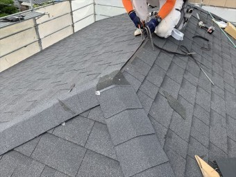 シングル屋根材棟