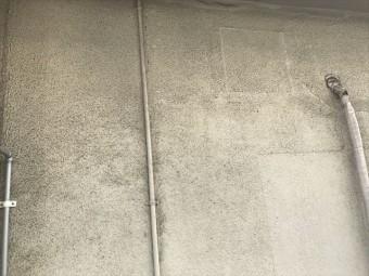 カビの繁殖したモルタル外壁