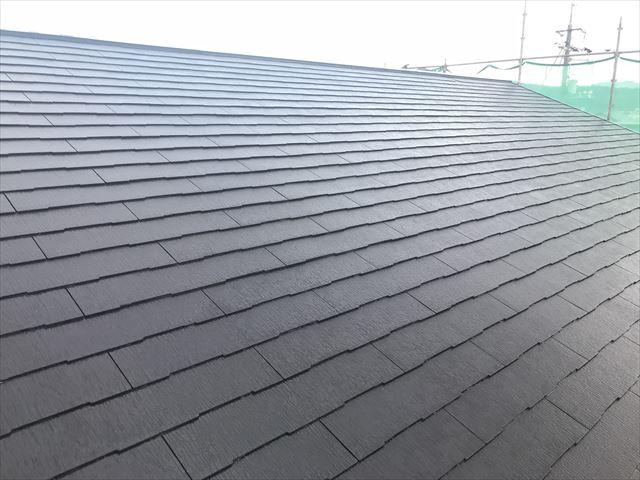 塗装後のスレート屋根
