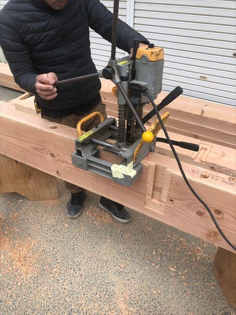 木材の継手の加工