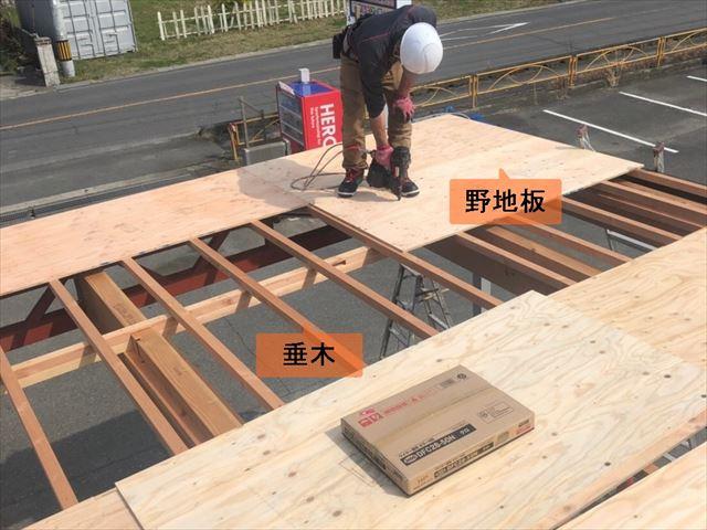 屋根の垂木