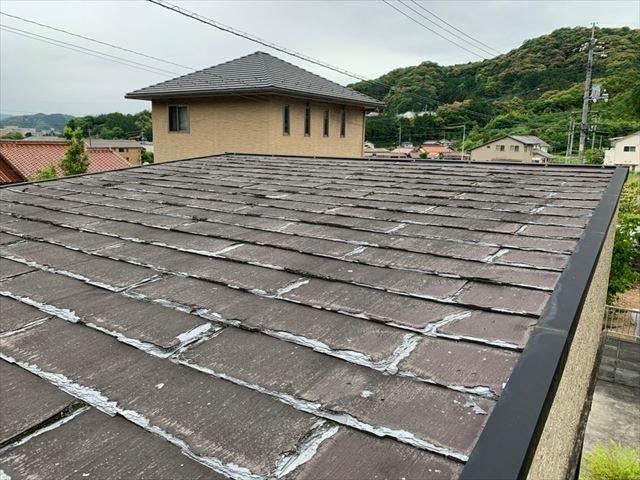 層間剥離が起きたパミール屋根