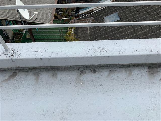 屋上防水の立ち上がり部分