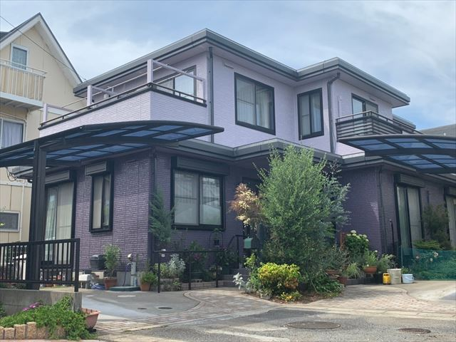 2階建て住宅の外観