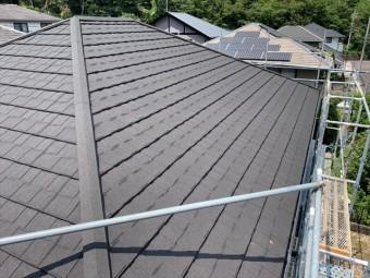 屋根カバー工法でセネターを施工した屋根