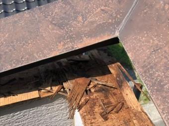 ベランダの笠木の撤去