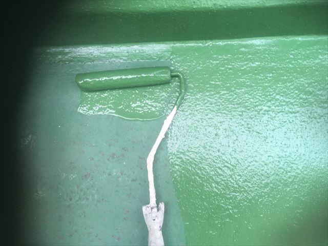 防水のトップコートの塗布