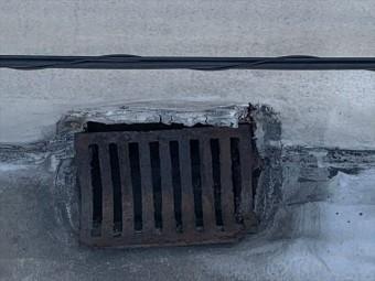 シート防水の排水口